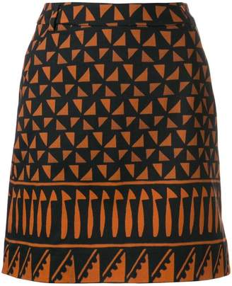 Alberta Ferretti geometric mini skirt