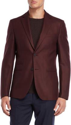 Calvin Klein Burgundy Twill Sport Coat