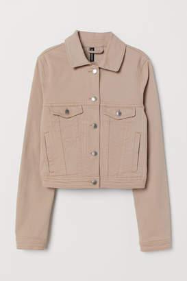 H&M Short Twill Jacket - Beige