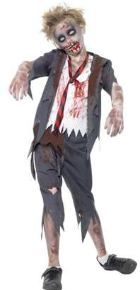 Smiffys Men's Zombie School Boy Costume Trousers Jacket with Mock Shirt and Tie