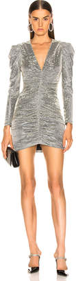 Jonathan Simkhai for FWRD Long Sleeve Metallic Leopard Mini Dress