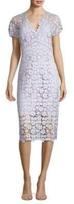 Shoshanna Floral Lace Cotton Sheath Dress