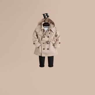 Burberry Hooded Cotton Twill Trench Coat $375 thestylecure.com
