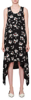 Proenza Schouler Sleeveless Scoop-Neck Blossom-Print Dress