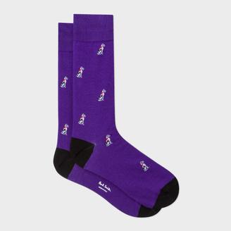 Men's Purple Dalmatian Dog Motif Socks $30 thestylecure.com