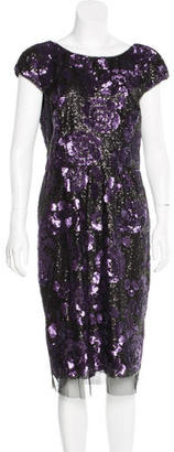 Vera Wang Sequin-Embellished Sheath Dress w/ Tags $175 thestylecure.com