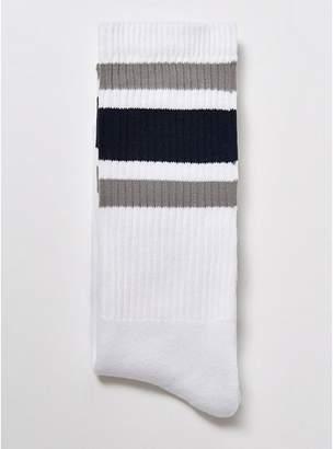 Topman Mens White Assorted Color Three Stripe Tube Socks