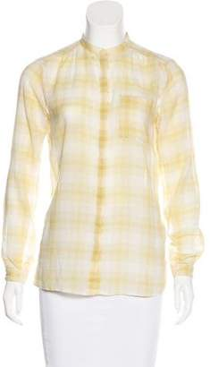 Burberry Check Button-Up Top