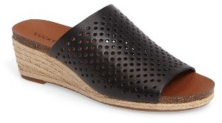 Women's Lucky Brand Jemya Perforated Open Toe Mule $78.95 thestylecure.com