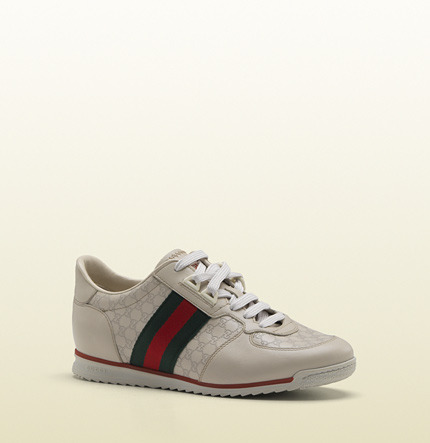 Gucci SL73 lace-up sneaker with signature web