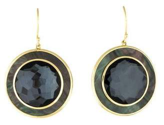 Ippolita 18K Abalone, Hematine & Quartz Ondine Round Earrings