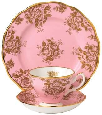 Royal Albert Golden Roses 1960 3-Piece Tea Set