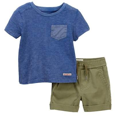 Cotton Slub Over Dyed Top & Shorts (Baby Boys)