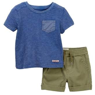 Hudson Cotton Slub Over Dyed Top & Shorts (Baby Boys)