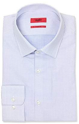 HUGO BOSS HUGO by Hugo Men's Sharp Fit Dress Shirt with Modified Point Collar