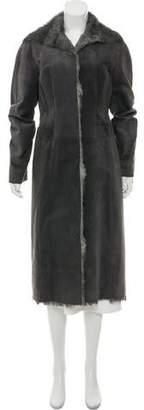 Alberta Ferretti Printed Fur Coat