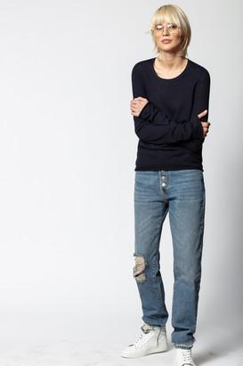 Zadig & Voltaire Tessa Cachemire Star Patch Sweater