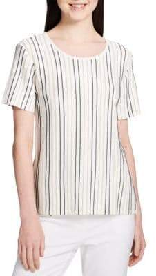 Calvin Klein Striped Short Sleeve Top