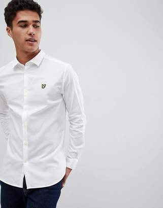 Lyle & Scott Buttondown Slim Fit Poplin Shirt With Stretch In White