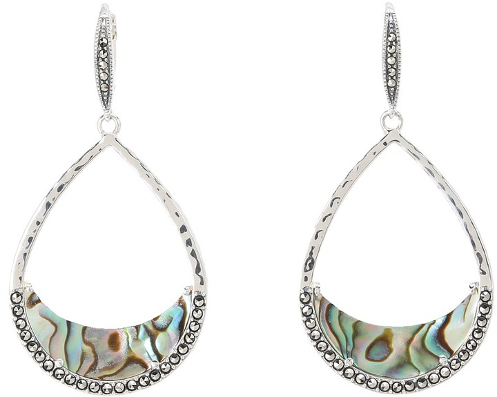 Judith Jack 60274859 Slices Of Color Drop Earring (Marcasite/Abalone) - Jewelry