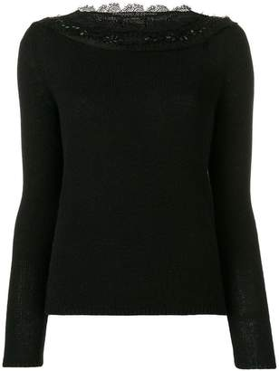 Ermanno Scervino boat-neck knitted sweater