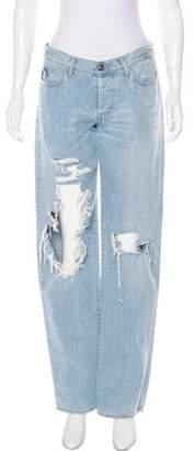 Just Cavalli Distressed Mid-Rise Jeans