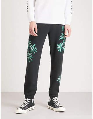 Billionaire Boys Club Palm-embroidered cotton-jersey jogging bottoms