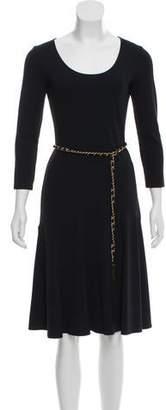 Michael Kors Long Sleeve Scoop Neck Dress