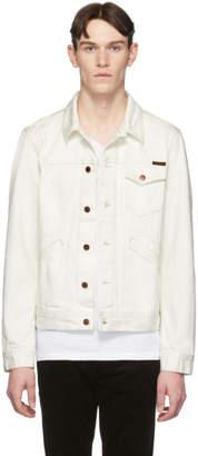 Nudie Jeans White Denim Tommy Jacket