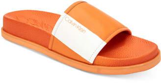 Calvin Klein Calvin Men Mackee Slide Sandals Men Shoes