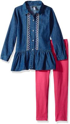 Kensie Little Girl's Fashion Top and Legging Set (more Styles Available) Pants