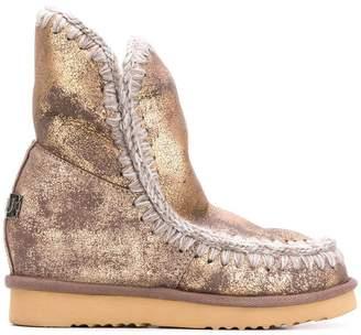 Mou overprinted eskimo boots