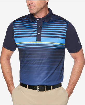 PGA Tour Men's Ombre Engineered Stripe Golf Polo