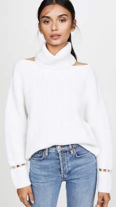 Alice + Olivia Lara Cold Shoulder Sweater
