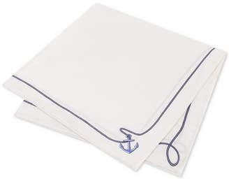 Tommy Hilfiger Men's Anchor Silk Pocket Square