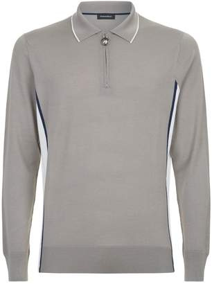 Stefano Ricci Contrast Panel Knitted Polo Shirt