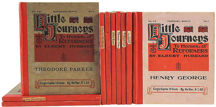 Elbert Hubbard's Homes of Reformers Set of 10