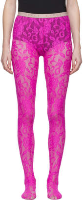Gucci Pink Lace Tights