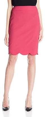 Nine West Women's Solid Skirt with Scallop Bottom