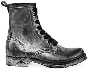 Frye Women's Veronica Leather Combat Boots