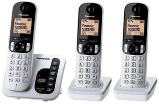 Panasonic NEW KX-TGC223ALS DECT Cordless Phone with Answering Machine Triple Pack