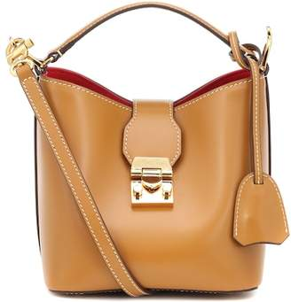 Mark Cross Murphy Mini leather bucket bag
