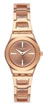 Swatch Analog Roseli Rose-Goldtone Bracelet Watch