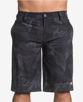 "Affliction Men's Black Diamond Slim-Fit Camouflage 12"" Stretch Boardshorts $58 thestylecure.com"