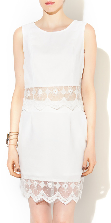 San Joy White Lace 2 Piece Set