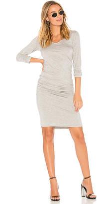Monrow Long Sleeve Shirred Dress