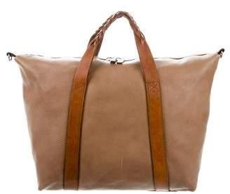 Salvatore Ferragamo Grained Leather Satchel