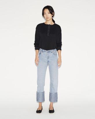 RE/DONE High Rise Cuffed Jean $275 thestylecure.com