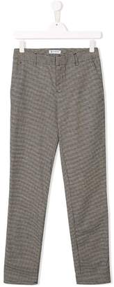 Dondup Kids TEEN straight check trousers