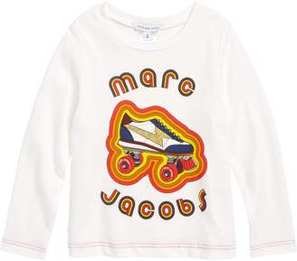 Little Marc Jacobs Glittery Roller Skate Long Sleeve Tee